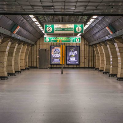subway station in Prague – Czech Republic