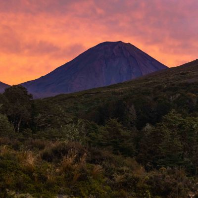 Sunrise above Mt. Ngauruhoe –  Tongariro National Park