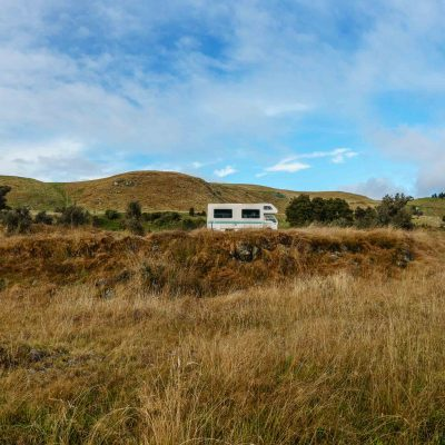 My Camper at the Waihi Gorge Campground – Canterbury